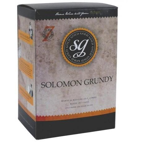 Solomon Grundy Gold - Merlot - 7 Day Red Wine Kit - 30 Bottle