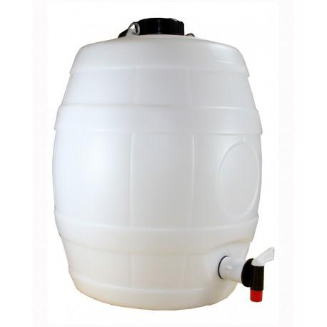 5 Gallon White Keg Barrel with Vent Cap