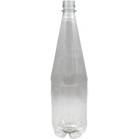 Beer / Wine / Lager Bottles - 1 Litre Clear Plastic with Screw Caps (24 Pack)