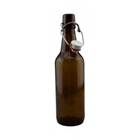 Beer Bottles - Glass Swing Top Bottles - 500ml - Brown/Amber - 12 Pack