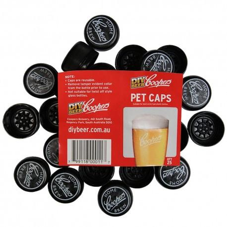 Coopers Bottle Caps for PET Beer Bottles - 25 Pack