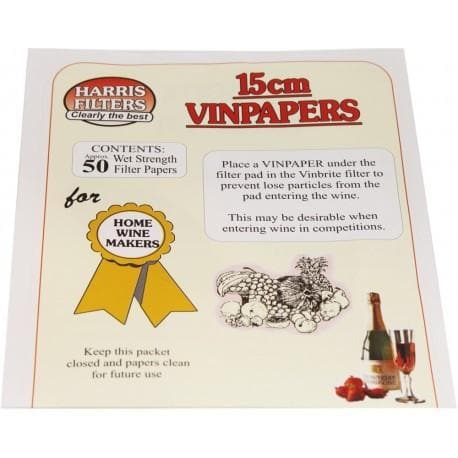 Harris Filters Vinbrite Filter Papers - 50 Pack