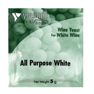 youngs-all-purpose-white-wine-yeast-5g for sale