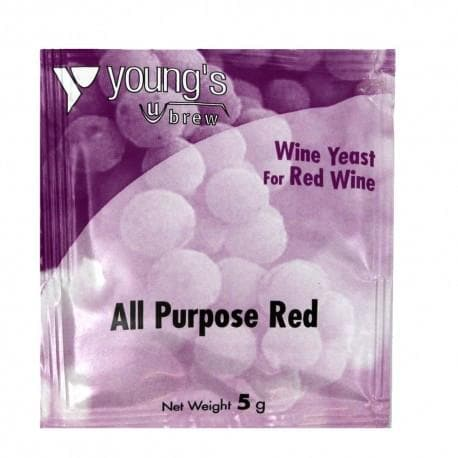 All Purpose Red Wine Youngs Yeast - 5g