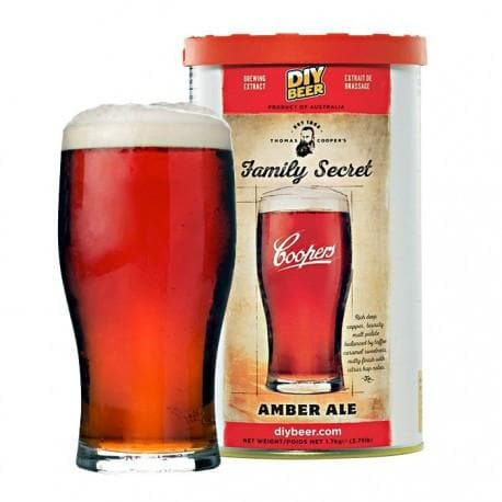 Coopers - Family Secret Amber Ale - 40 Pint Beer Kit