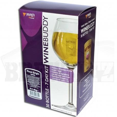 WineBuddy - Pinot Grigio - 7 Day Wine Kit - 30 Bottles