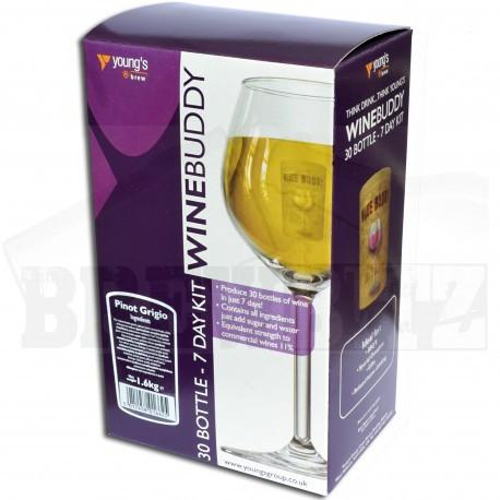 WineBuddy - Pinot Grigio - 7 Day White Wine Kit - 30 Bottles