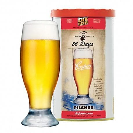 Coopers - 86 Days Pilsner - 40 Pint Beer Kit