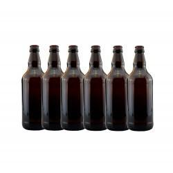 Beer Bottles - 500ml Plastic PET - Brown/Amber Bottles - Crown Cap - 24 pack