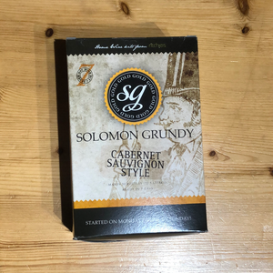 Solomon Grundy Gold - Cabernet Sauvignon - 7 Day Red Wine Kit - 30 Bottle