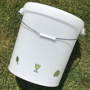 33 Litre Ritchies Fermentation Bucket with Hole for Tap + Lid with Grommet for Airlock