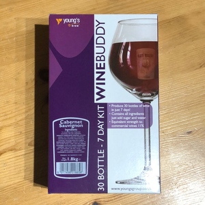 WineBuddy - Cabernet Sauvignon - 7 Day Red Wine Kit - 30 Bottles