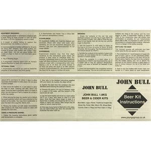 John Bull - Irish Stout - 40 Pint Beer Kit