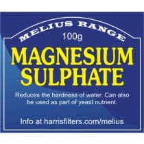Harris Filters - Magnesium Sulphate - 100g