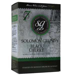 Solomon Grundy - Black Cherry - 7 Day Fruit Wine Kit - 6 Bottle