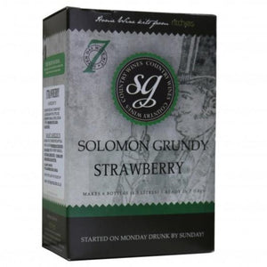 Solomon Grundy - Strawberry - 7 Day Fruit Wine Kit - 6 Bottle