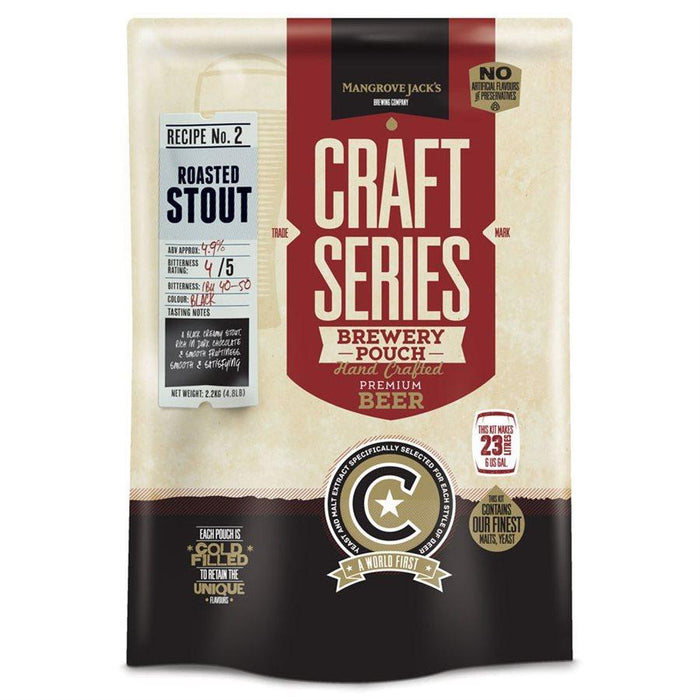 Mangrove Jack's  - Roasted Stout - 40 Pint Beer Kit