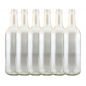 Wine Bottles Clear 750ml (15) - Glass