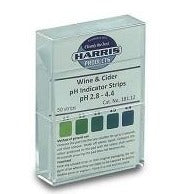 Harris Filters - Wine / Cider pH Acid Indicator Strips
