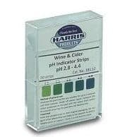 Wine / Cider pH Acid Indicator Strips - 50 - Harris