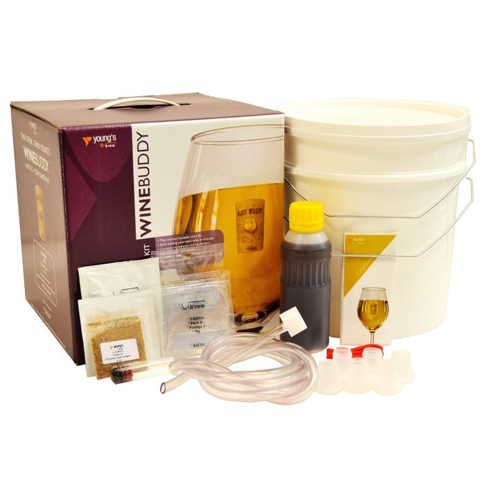 WineBuddy - Wine Making Equipment Starter Pack with Chardonnay