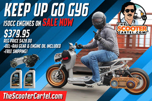 150cc GY6 4-Stroke Long-Case Engine **FREE SHIPPING