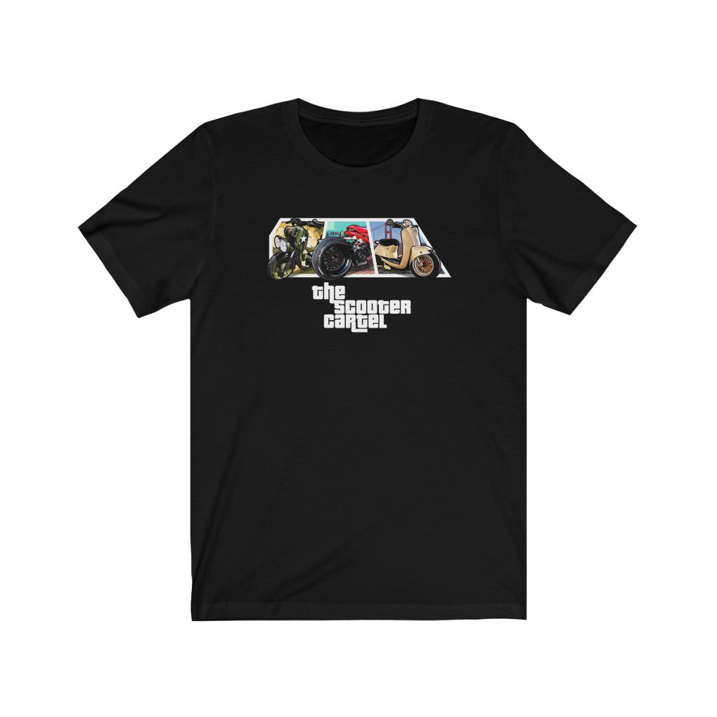 "The Scooter Cartel ""Grand Theft"" Short Sleeve Tee"