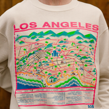 Load image into Gallery viewer, Los Angeles Map Crewneck (S/M)