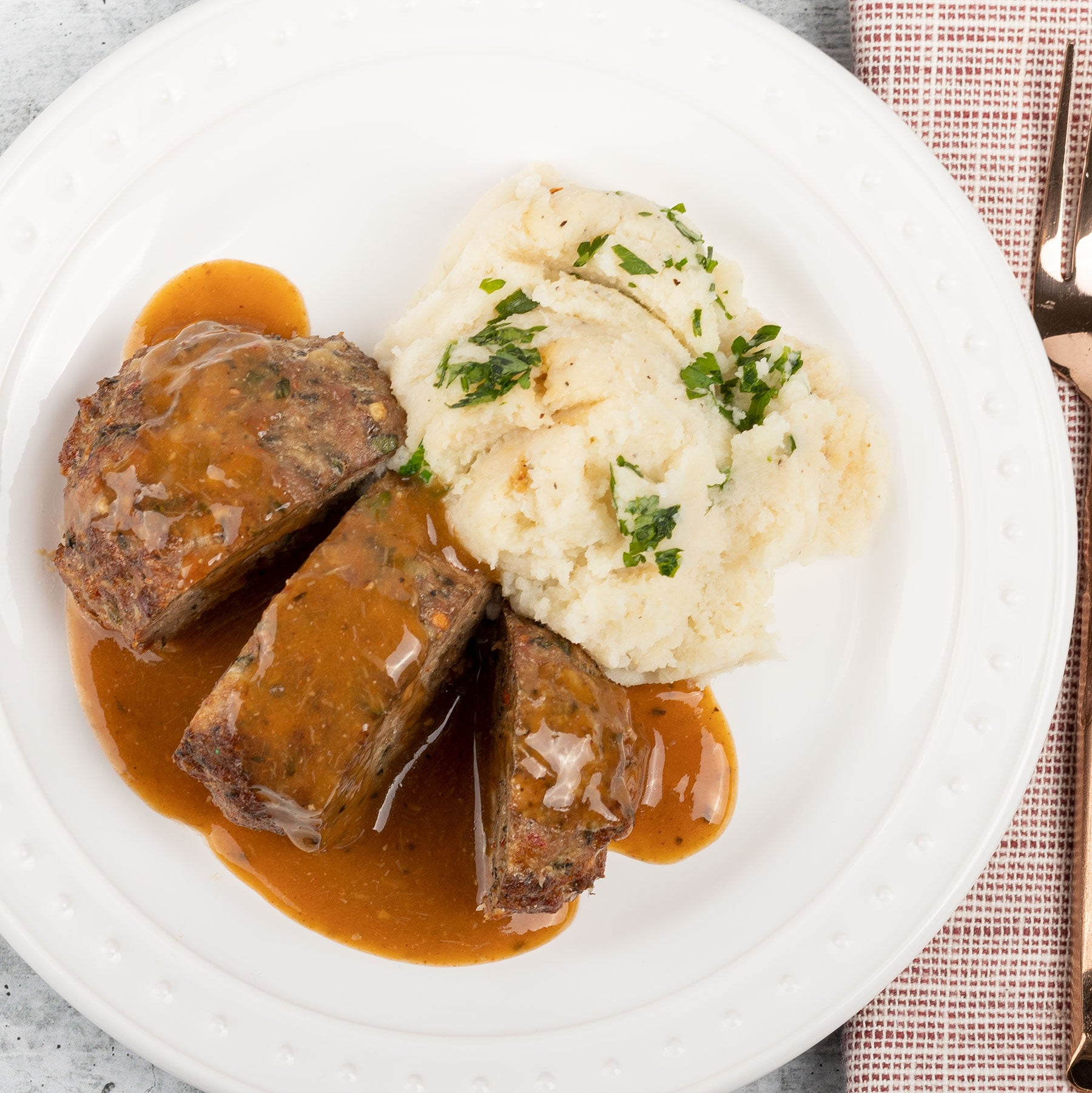 Grandmas Meatloaf With Cauli Mash