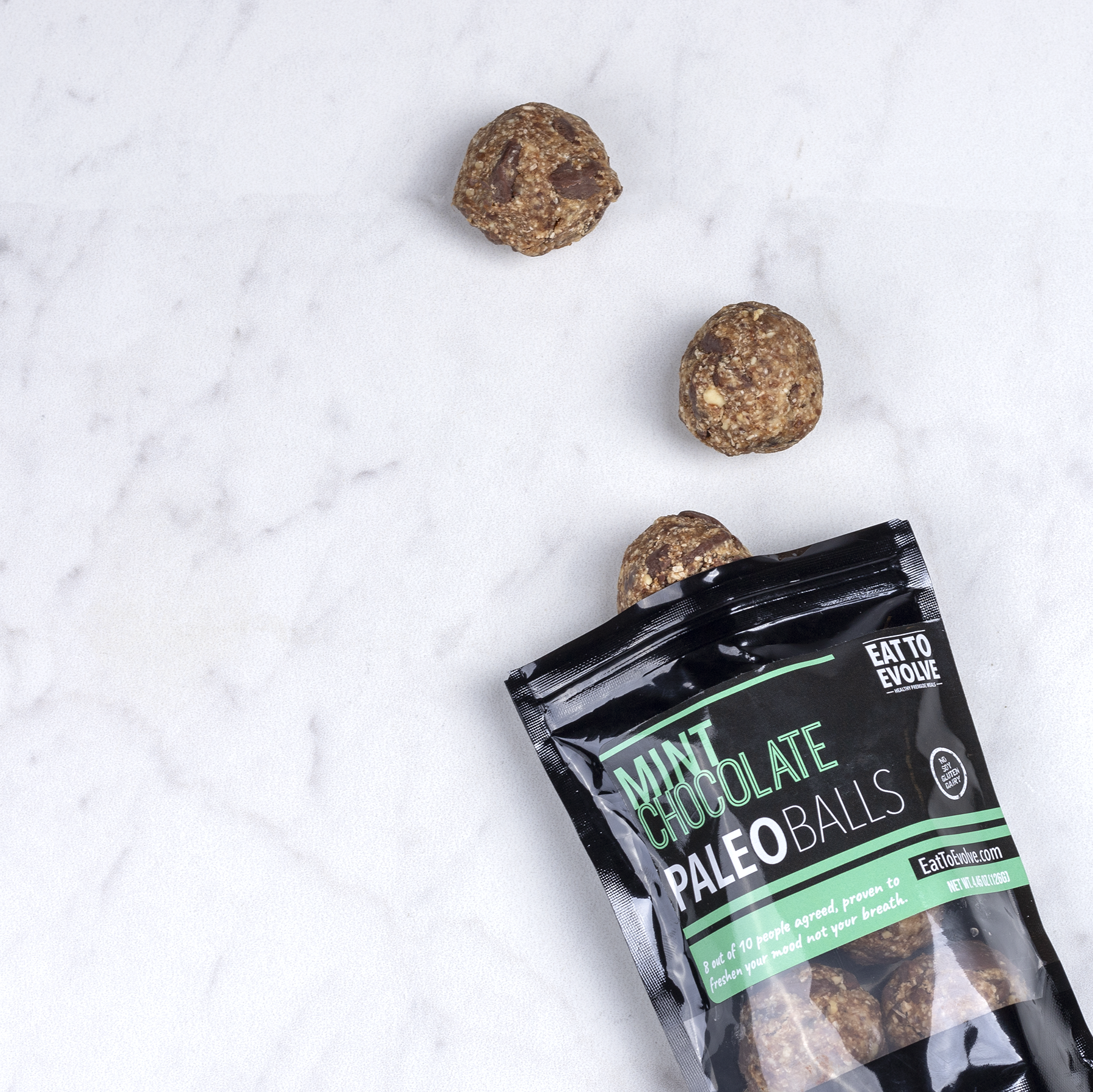 Mint Chocolate Paleo Balls, Six Pack