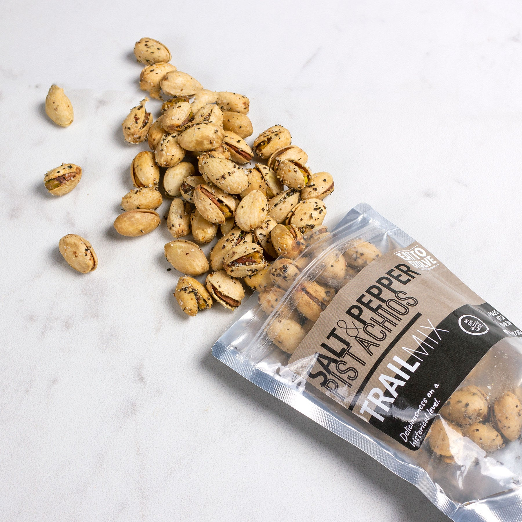 Salt and Pepper Pistachio Trail Mix