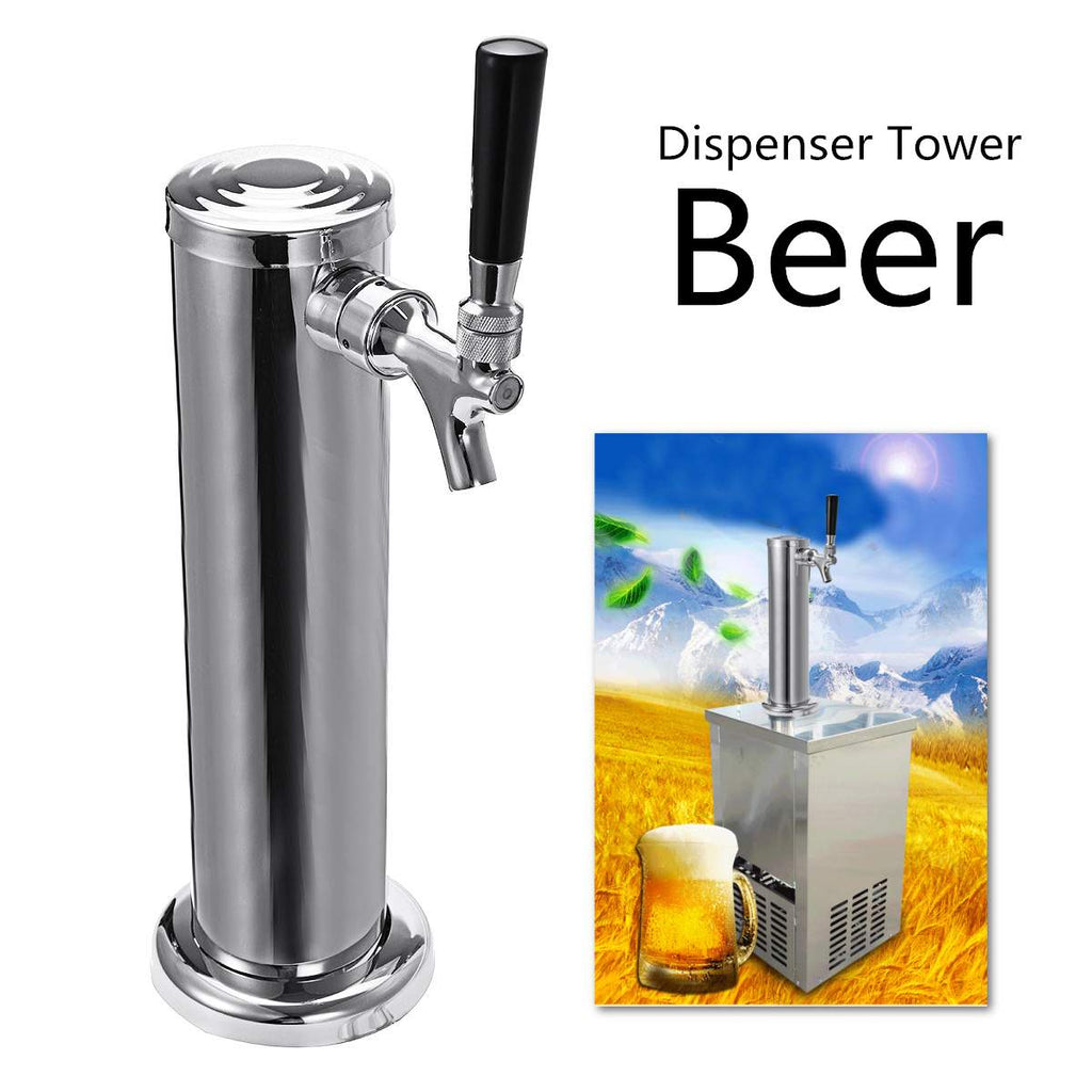 Stainless Steel Beer Dispenser Summer Juice Beer Draft Single Dispenser Faucet Tap Drinking Tower Bar Tools Barware Beer Keg