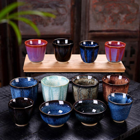 Kung Fu Tea Set Porcelain Tea Bowl Master Cup Ceramics Teacups Coffee Cup Drinkware Teaware Container Collection Cups Home Decor