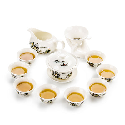High Quality Cereamic Chinese Kungfu Tea set Teaware DrinkWare Teaset-Y0062