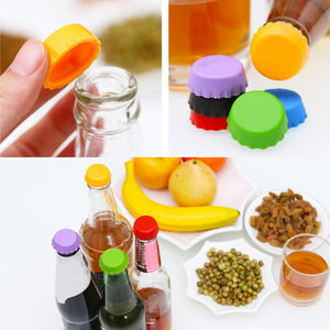 6 PCS/pack New Silicone Cap of Beer Bottle Caps Coke Bottle Cap of All Kinds of Drinks The Cover Cap Barware, Kitchen Tool