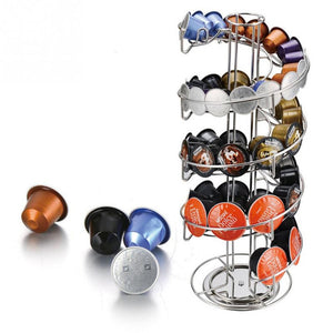 Iron Coffeeware Nespresso Coffee Capsules Pot Holder Stand Capsule Storage Rack Shelf Organizer For Dolce Gusto