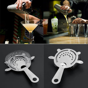 Stainless Steel Bartender Bar Cocktail Shaker Wine Ice Strainer Bar Percolator Colander Ice Strainer Mixed Barware Kitchen Tool