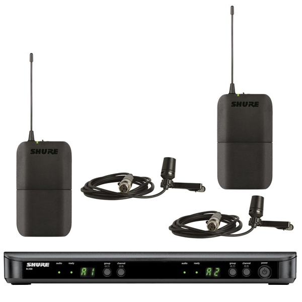Shure BLX188/CVL Dual Channel Wireless System with 2 CVL Lavalier Mics