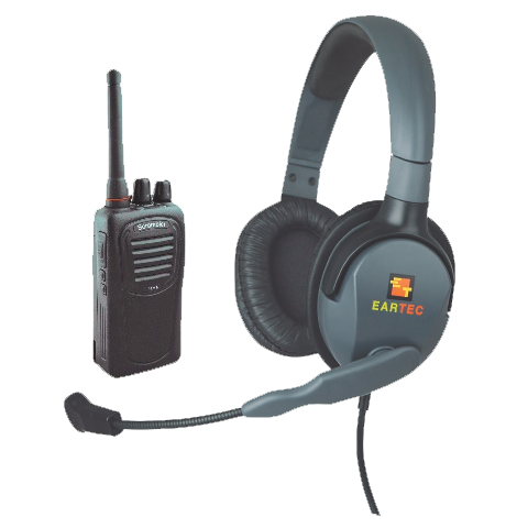 Eartec MAX 4G Double Muff Headset with SC-1000 Transceiver