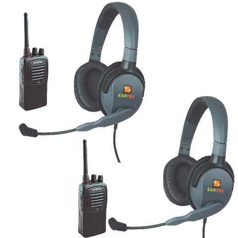Eartec 2-User Wireless Intercom Package with Max 4G Double Muff Headsets