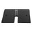 "24″ x 24″ Slip-Fit Base - 1½"" x 6"" Pin (w/ Edge Protector) (Black Powder Coated)"