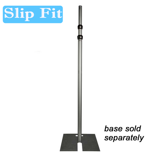 "2"" Slip Fit Upright - 5'-8' Upright (Slip Collar Two Piece) (Black Powder Coated)"