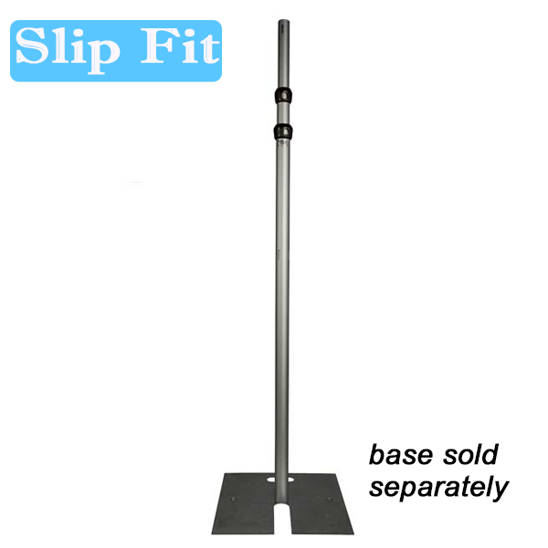 "2"" Slip Fit Upright - 4'-7' Upright (Slip Collar Two Piece) (Black Powder Coated)"