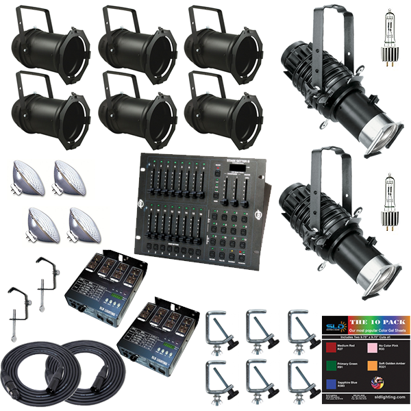 PAR/Ellipsoidal Combination Package with 8 Lights