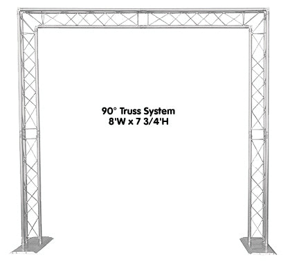 Portable, Free-Standing Truss - 90 Degree Arch