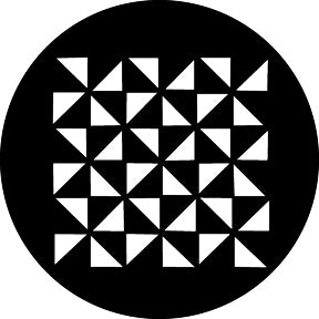 GAM Triangle Grid Gobo Pattern
