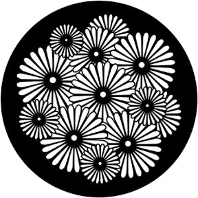 Rosco Sunburst Flowers Gobo Pattern