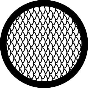 Rosco Fish Scales Gobo Pattern