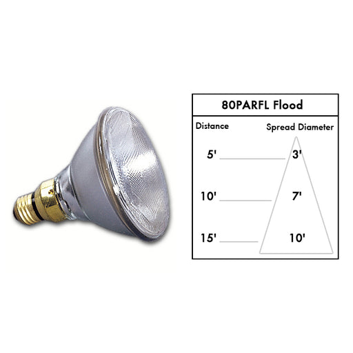 Lamp PAR38, 80W Flood 2500 hr.