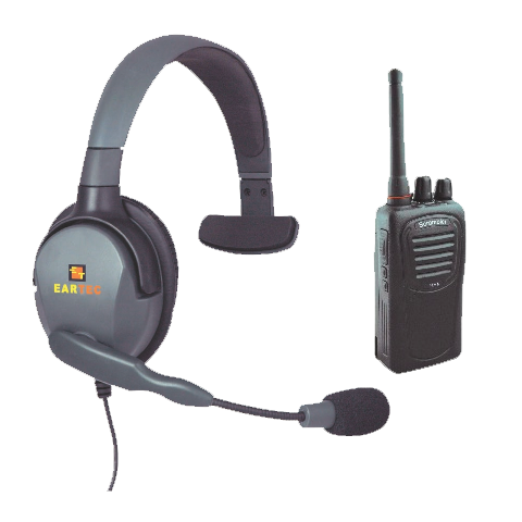 Eartec Max 4G Single Muff Headset with SC-1000 Transceiver